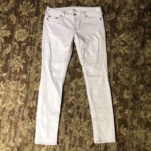 Skinny White True Religion Jeans
